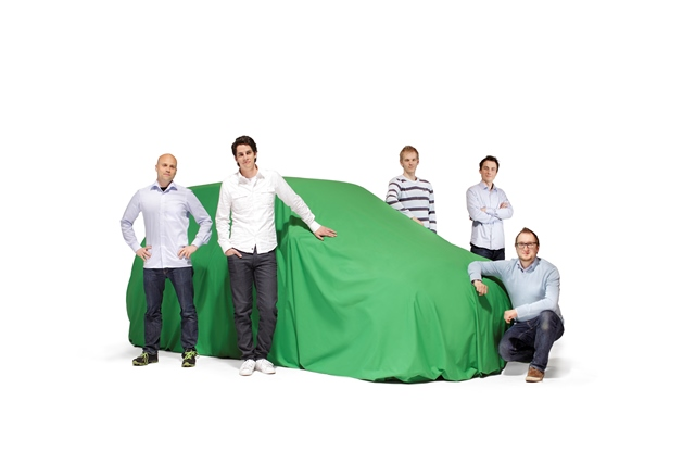 Biofore Concept Car in preparation for its launch at the Geneva International Motor Show in 2014.