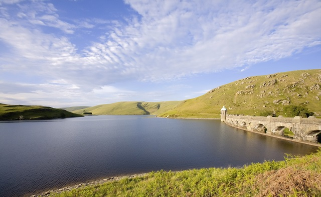A Resevoir in the Elan Valley Cambrian Mountains, Wales UK. Drinking water in the UK was on a serious decline until action was taken in the 1980s to improve its quality.