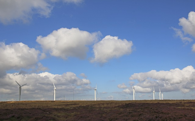 The 23 turbines of Ovenden Moor wind farm are supplying sustainable clean, green power and have now been doing for over 15 years.