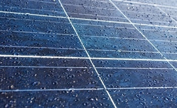 Creating Power from Rain using Solar Panels