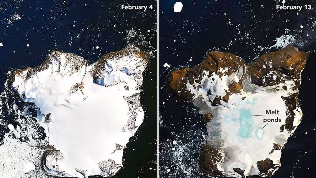 Shocking Images Revealing the Melting Level of Glaciers in Antarctica