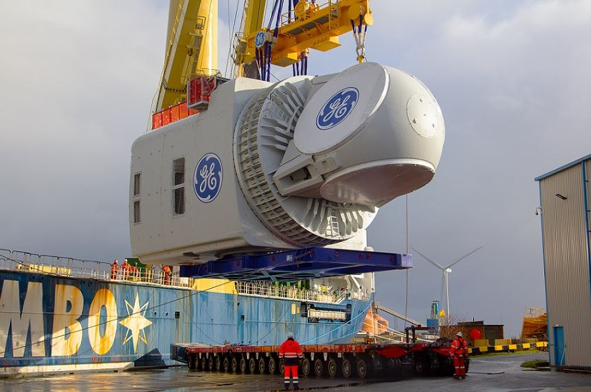 GE's Haliade-X 12 MW Nacelle, the World's Most Powerful Offshore Wind Turbine, Arrives in the UK for Testing