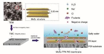 New Thin Film Nanocomposite Reverse Osmosis Membrane with Improved Water Flux and Salt Rejection Properties