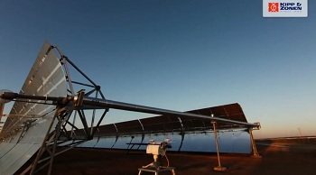 Time-lapse of a Kipp & Zonen SOLYS 2 sun tracker at a concentrating solar power plant